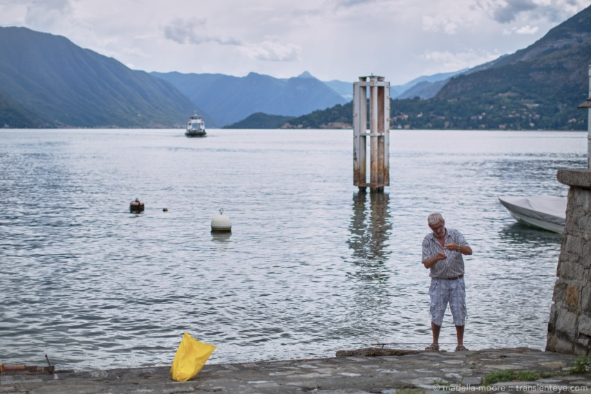 Fisherman at Varenna, Lago di Como, Italy