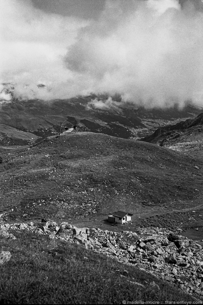 The swiss alps, between Silvaplana and St Moritz,. Leica M7 with Zeiss ZM 2/35 and  Ilford Delta 100 , processed in HC110 Dilution H.