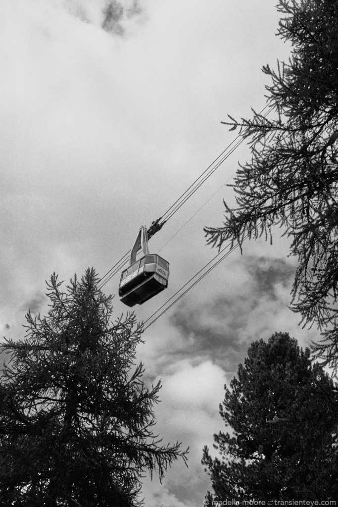 Cable car, Switzerland. Ilford Delta 100 with Leica M7 and Zeiss ZM 2/35.