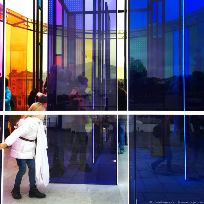 Colourful exhibit at Place de la Concorde, Paris.