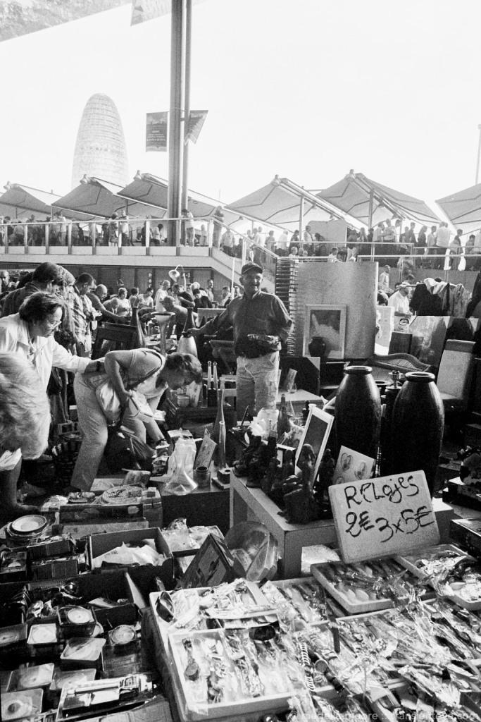 Los Encants flea market, Barcelona.