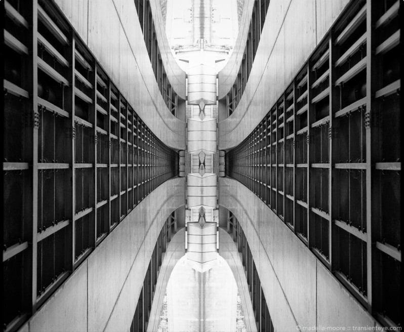 Abstract · abstracted bridge architecture paris photoshop composite of a black and white film