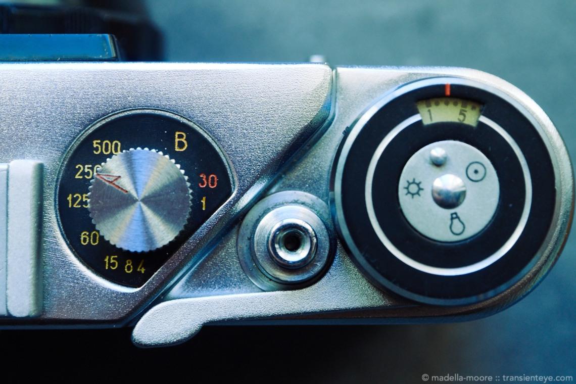 FED 5b Soviet Rangfinder - Shutter Speed, Shutter Button, Frame Counter and Winding Lever