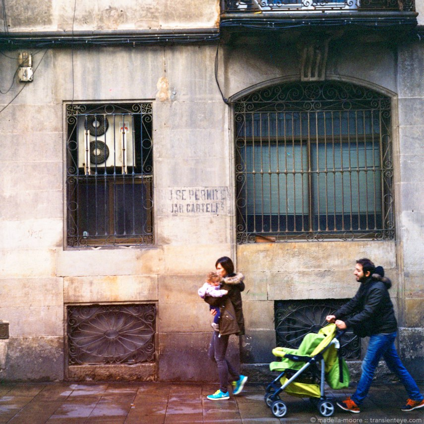 Street scene in Barcelona - example of C41 home colour film development and processing.