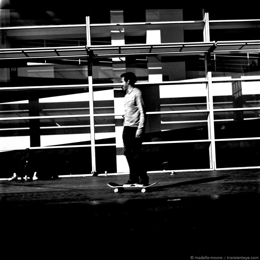 Skateboarders at Plaça dels Angels, Barcelona