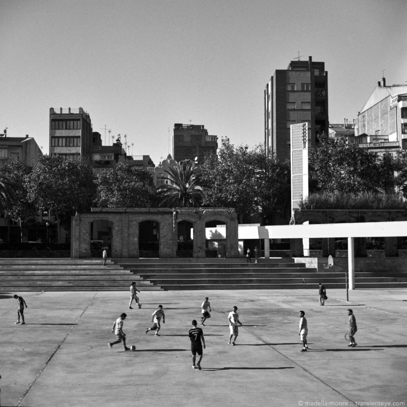 Football players, Parc del Clot, Barcelona
