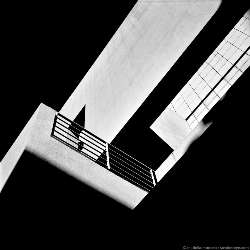 MACBA (Barcelona Museum of Modern Art) Architectural Abstract in Black and White.