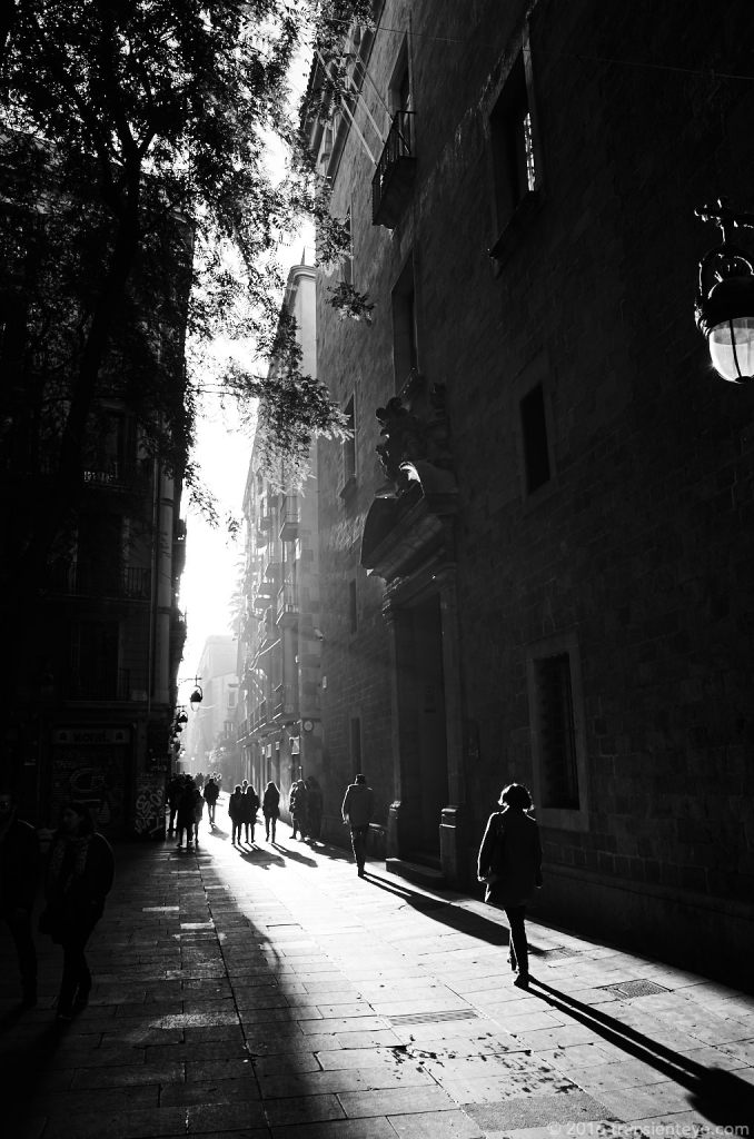 Carrer d'Elizabets (by the Rambla), Barcelona. Ricoh GR shot in RAW and converted to Black and White in Capture One Pro 9.0.3