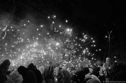 The Correfoc closing the Festa Major de Sant Antoni, Barcelona. Ricoh GR shot in RAW and converted to Black and White in Capture One Pro 9.0.3
