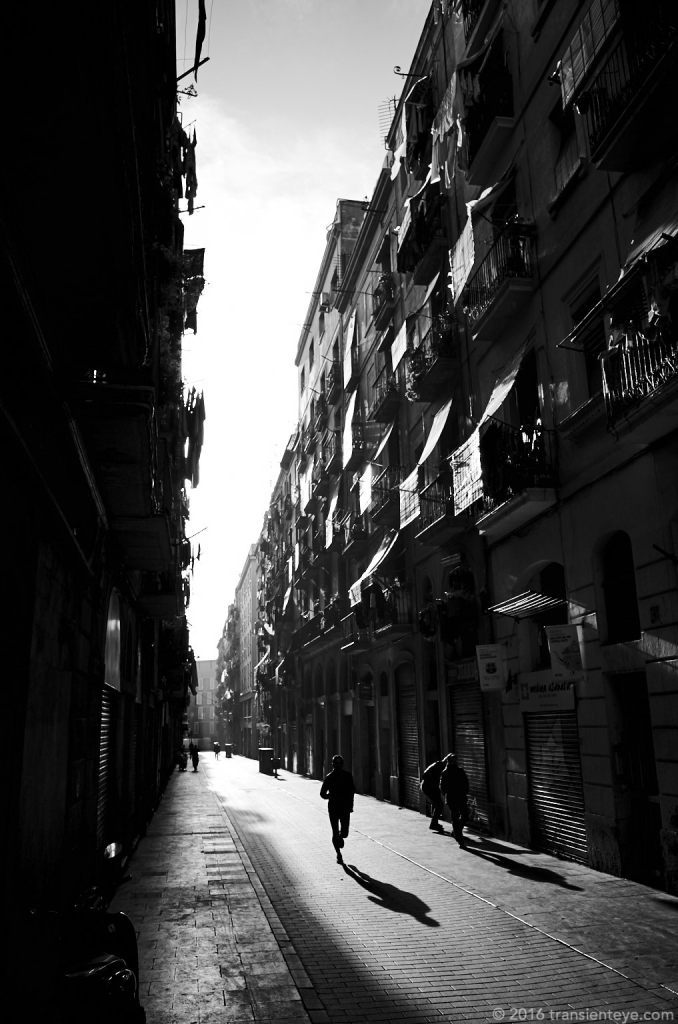 Barcelona Streets. Ricoh GR, processed to Black and White in Capture One Pro 9.