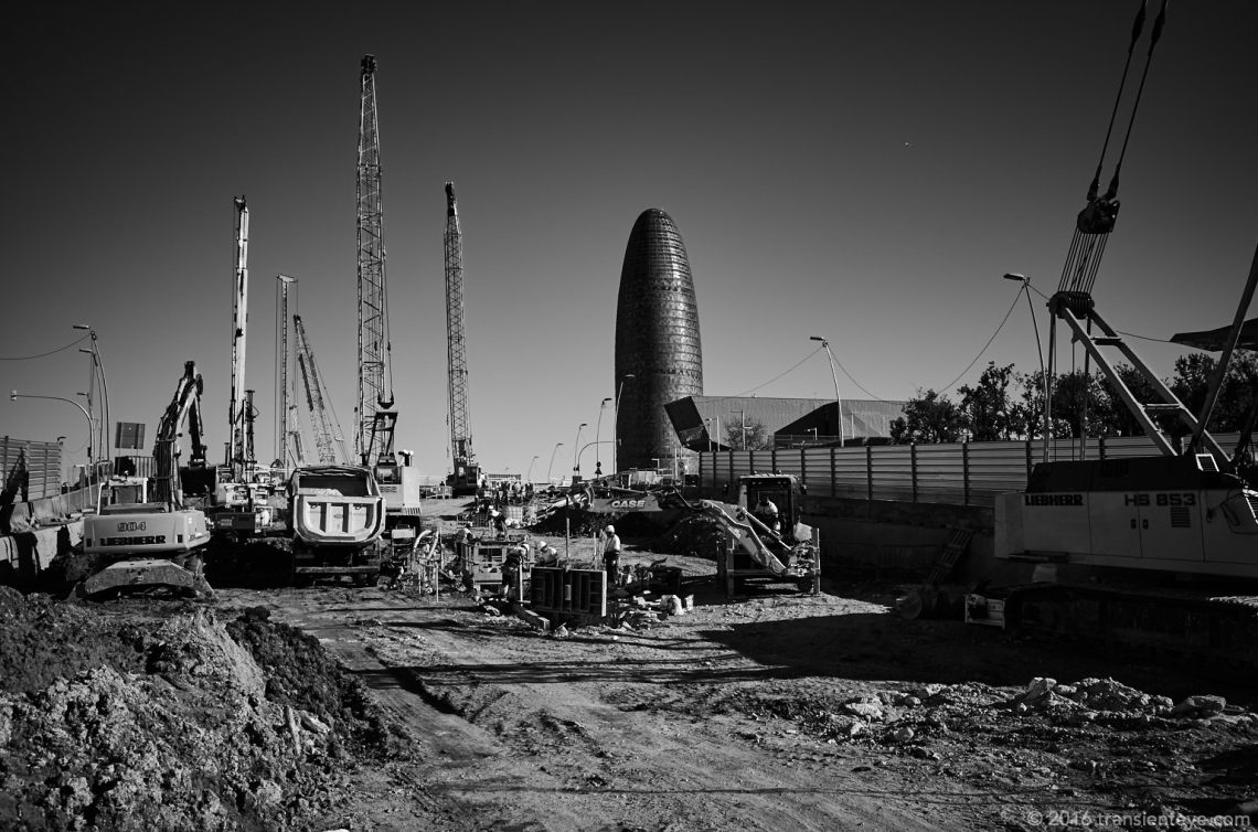 Construction at Glories, Barcelona
