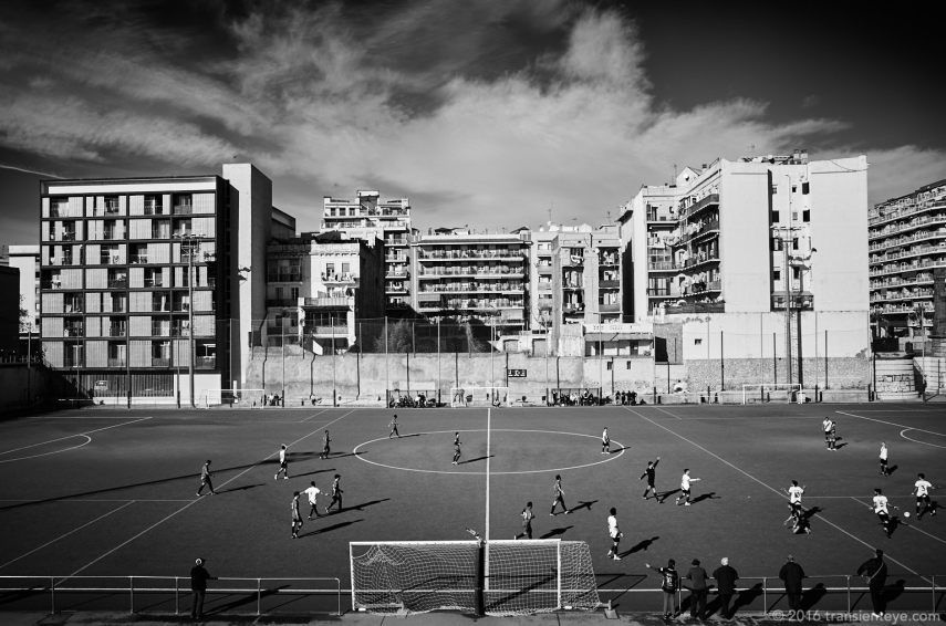 Football at Fort Pienc, Barcelona