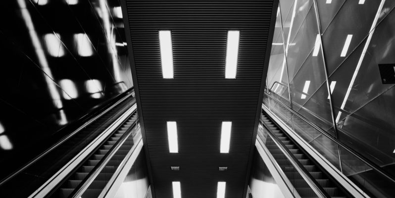 Torrassa Metro Escaleras, Barcelona. Ricoh GR II in Black and White.