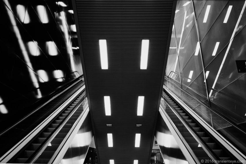 Torrassa Metro Escaleras, Barcelona. Ricoh GR II in Black and White.