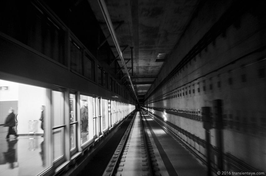 Metro Line 9, Barcelona. Ricoh GR II in Black and White.