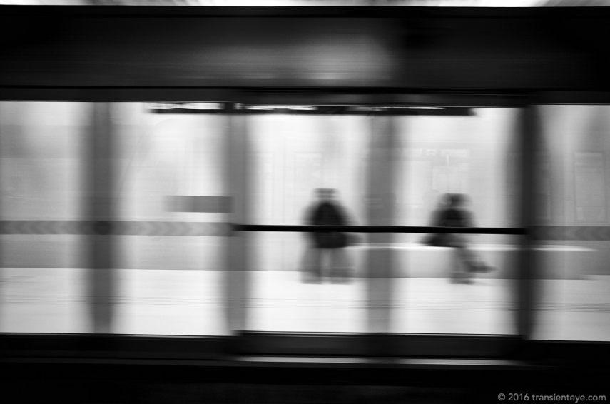 Metro Line 9, Barcelona. Ricoh GR II in Black and White.