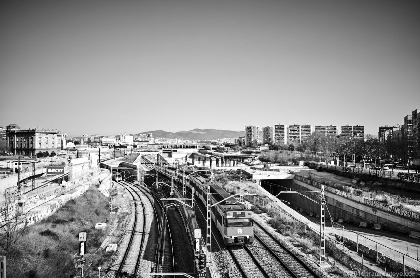 Railway, Barcelona - GR II processed in Capture One Pro 9.03