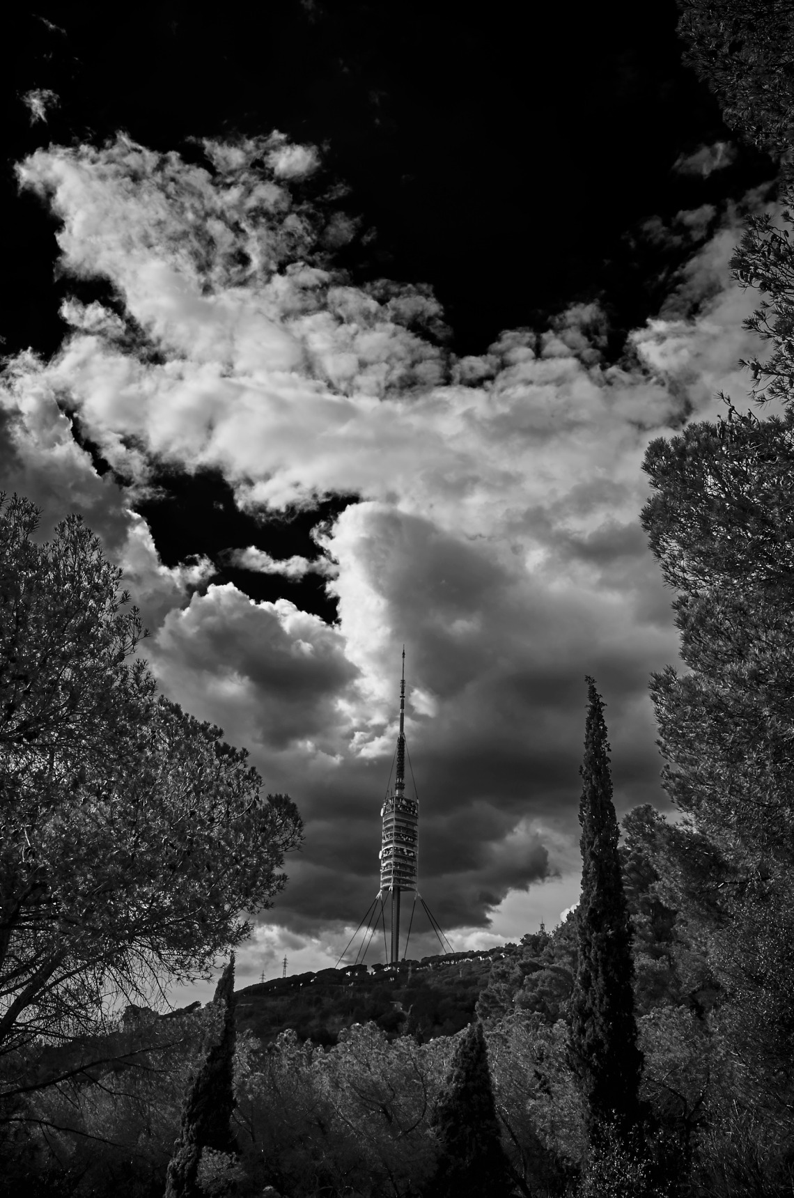 Communication towers at the Collserola
