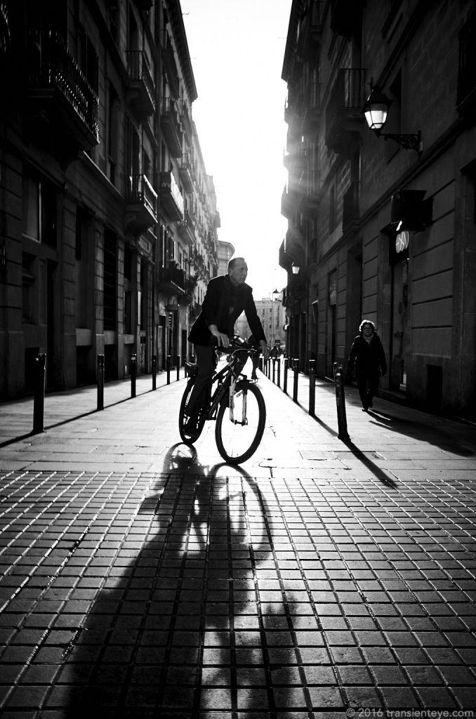 Cyclist, Barcelona.