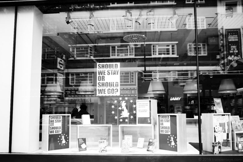 Brexit: In or Out? Foyles Bookstore, London