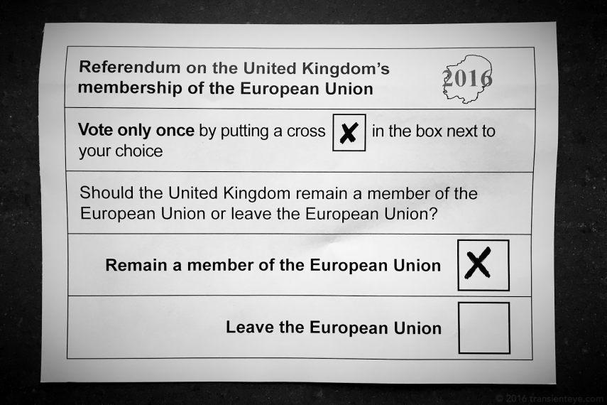 Brexit: Ballot Paper - Vote Remain!