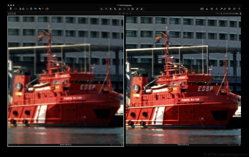 Initial Scan (left) vs Sharpened (right)