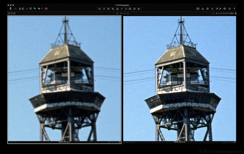Initial Scan (left) vs Sharpened (right)