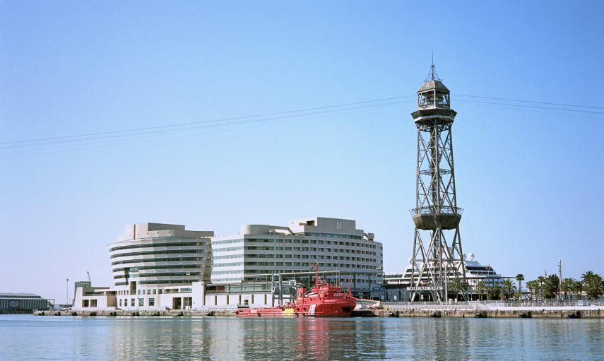 A typical touristic snap-shot at Port Vell, Barcelona