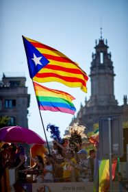 Pride Barcelona 2016 - Two Flags