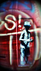Street and Street-Art film photographs taken with a modified 50mm lens