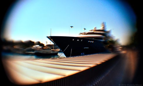 Luxury Yacht at Port Vell, taken with a modified 50mm lens