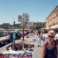 Illegal street-sellers, Barceloneta(Barcelona)
