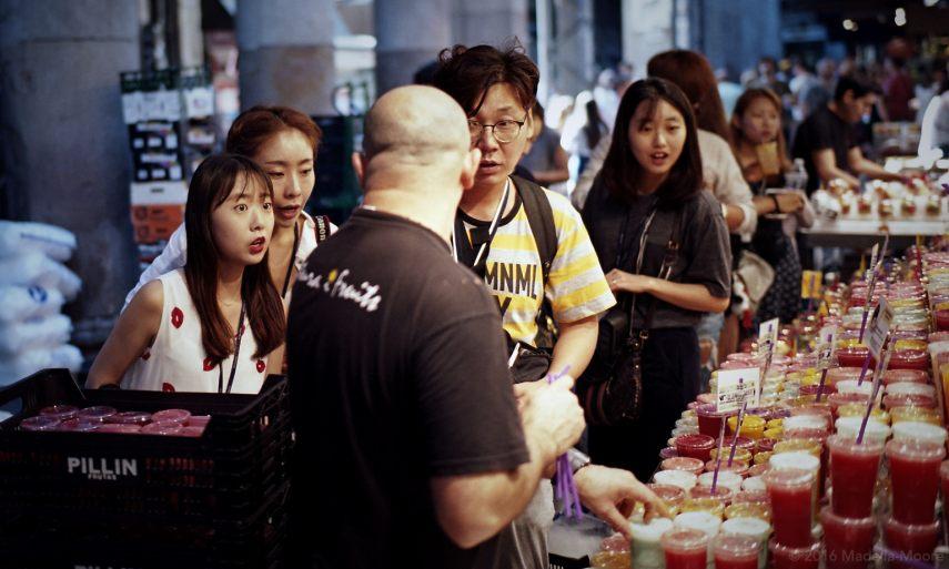 Tourists at the Mercat de Sant Josep (La Boqueria), Barcelona