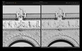 Digital (left) vs Delta 100 (right)