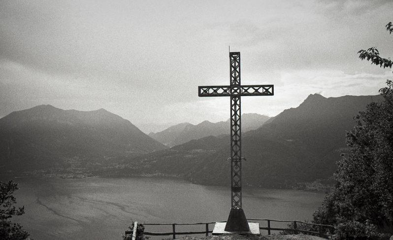 Steel cross, Italy.