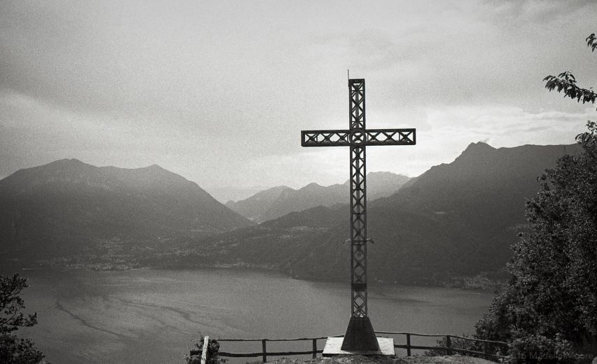 Steel cross, Italy.