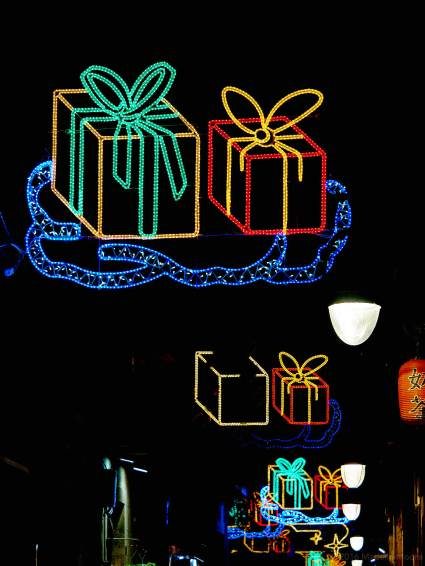 Carrer d' Elizabets, Barcelona. Christmas Lights