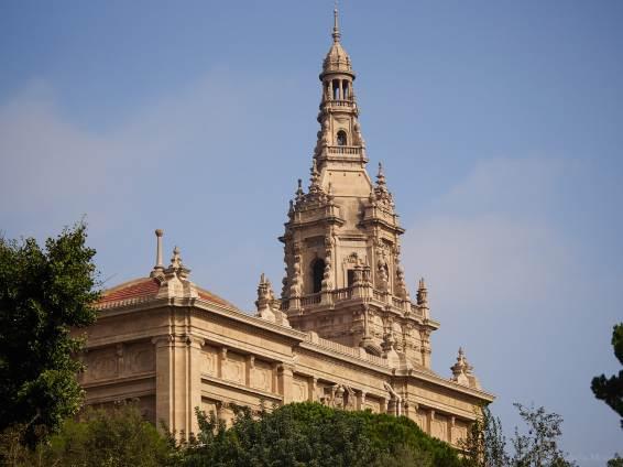 The MNAC, seen from the Jardí Botànic Històric, Barcelona