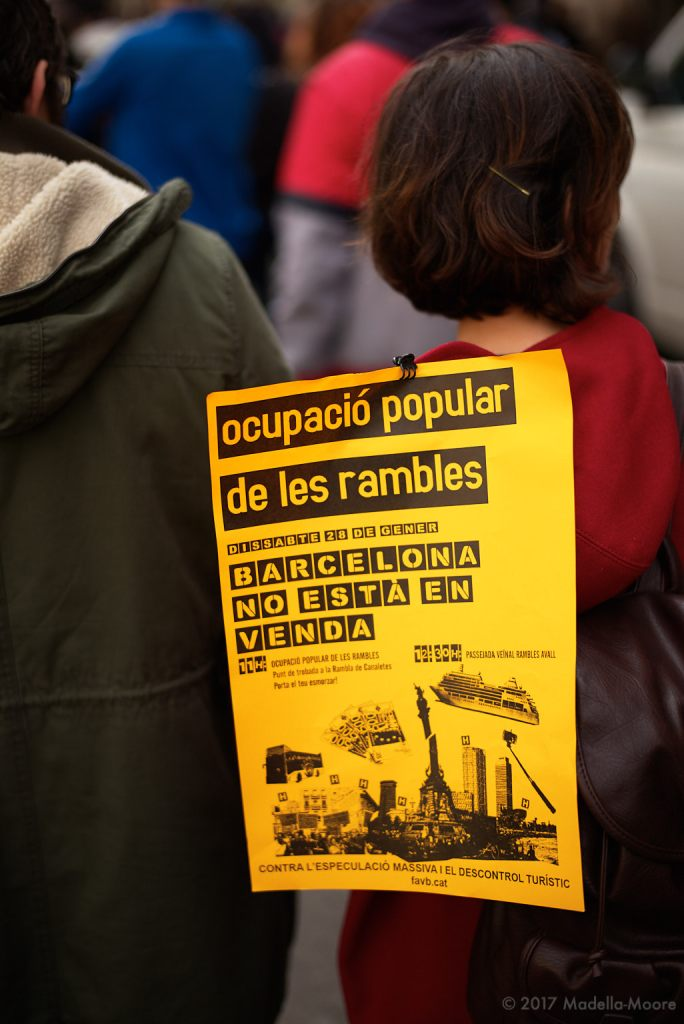 Protest Poster against Tourism and Property Speculation, Barcelona