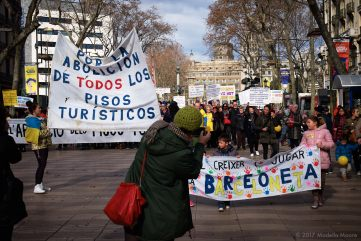 Ocupació Popular de les Rambles, Barcelona, January 2017