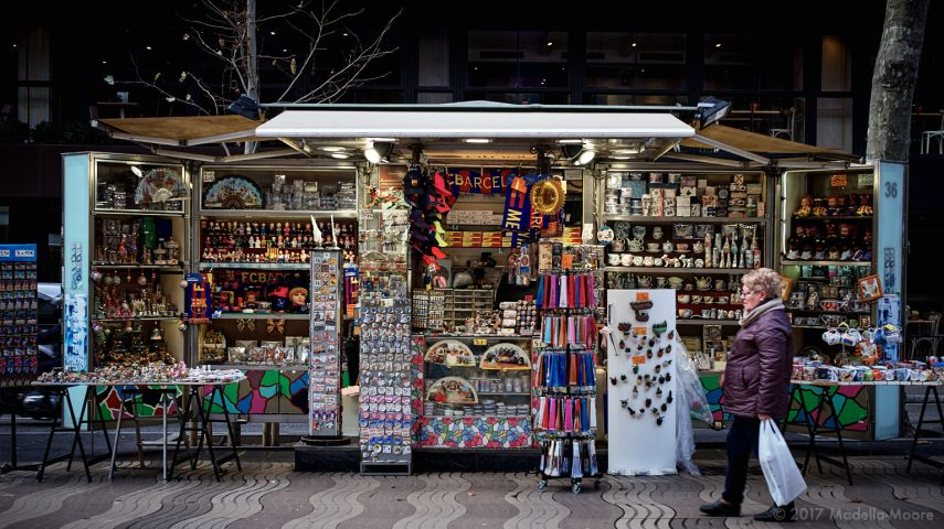 The disneyfication of Las Ramblas, Barcelona.