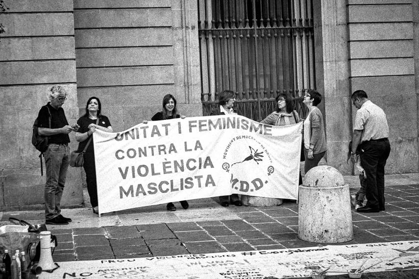 Protest against male violence, Plaça Sant Jaume, Barcelona
