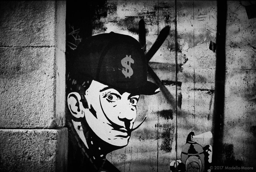 Dollar Dalí,Street Art, Barcelona.