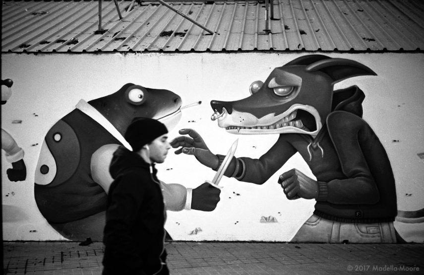 Street Scene, El Parallel, Barcelona.