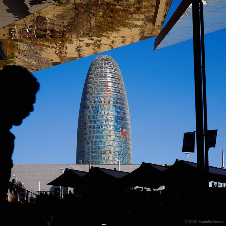 Torre Agbar, seen from the Encants Market