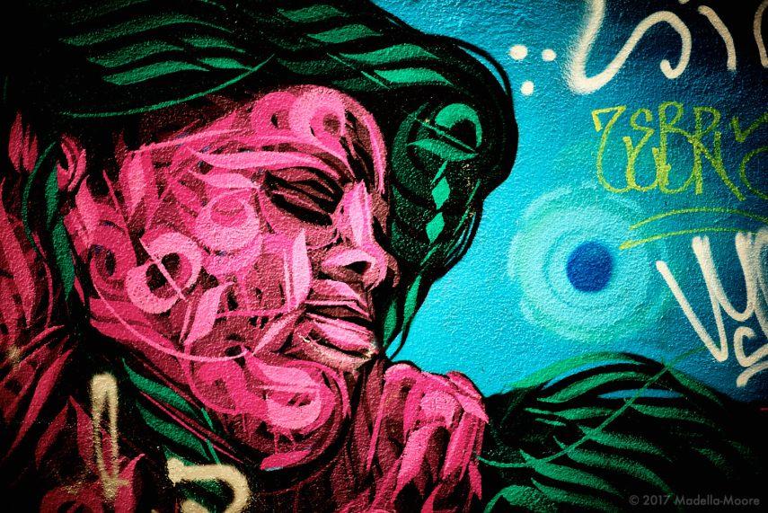 Four Doors - Barcelona Street Art, El Raval - Nature Woman