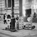 Street scene, Portal de l'Angel,Barcelona.