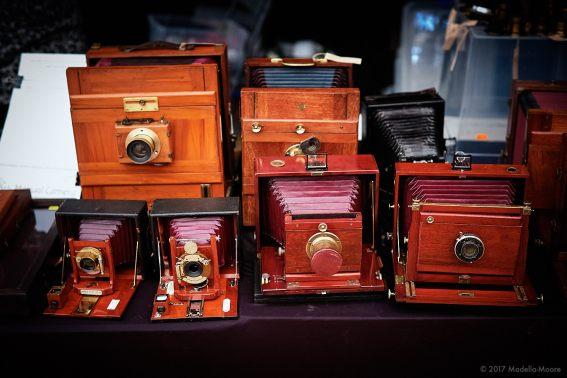 Old Cameras on sale at Revela-T 2017, Vilasser de Dalt.