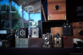 Old Cameras on sale at Revela-T 2017, Vilasser de Dalt.