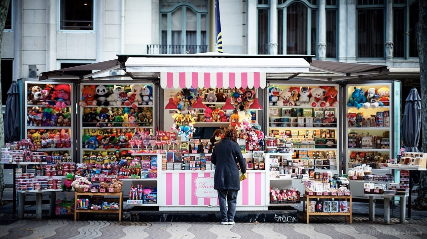 Street stall, Las Rambla, Barcelona. Leica M typ 262 with 50mm Summilux ASPH.